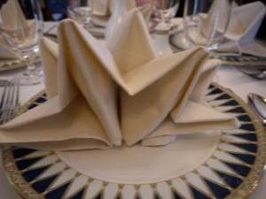 Table settings at Club 33