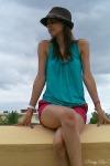teal-shirt-maroon-shorts-hot-pink-flats_400