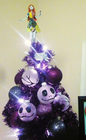 My little tabletop Nightmare Before Christmas tree