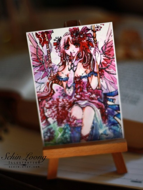 ACEO Rainbow Fairy by schin