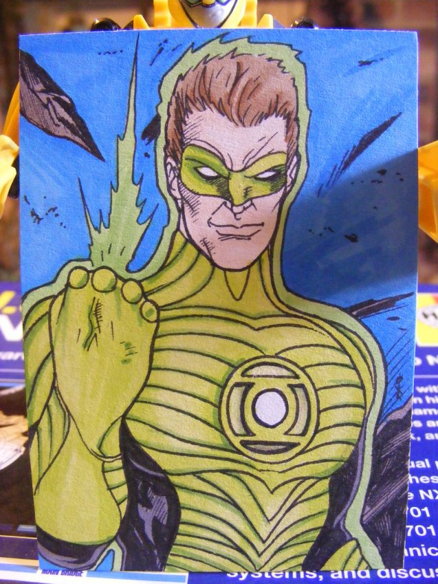 ACEO PSC Original Green Lantern by ComicBookBoo