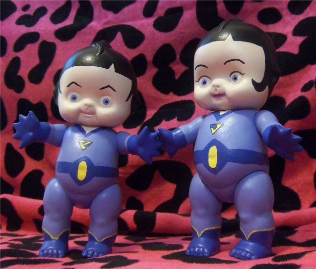Wonder Twins Kewpie Altered Art Doll by neeneegurl