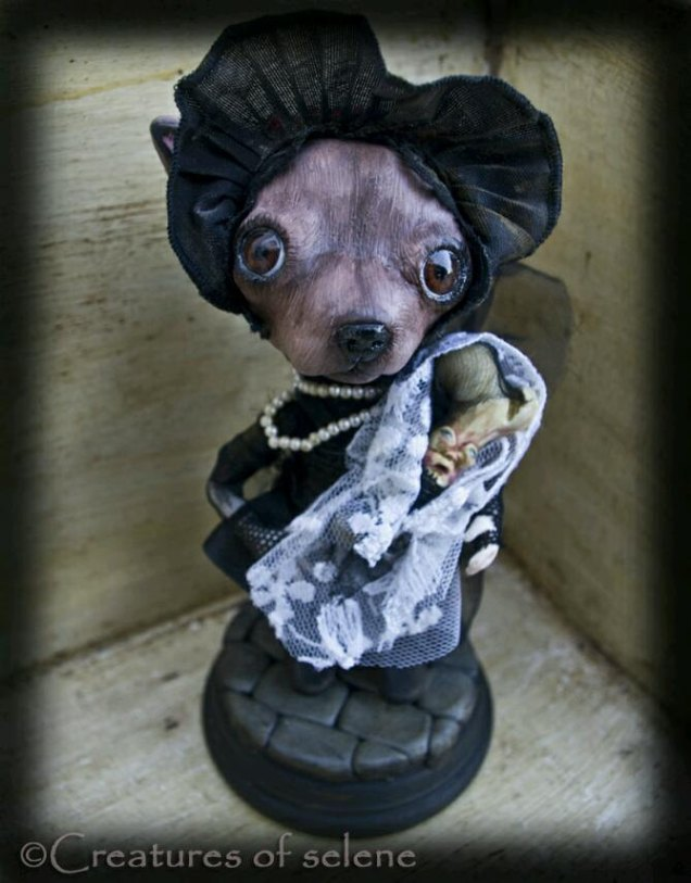 Anne Sophia Chihuahua Doll and her baby, Bonie by Creaturesofselene