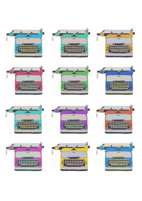 Vintage Typewriter Illustration by BearAndRobot