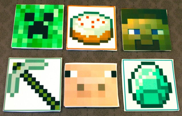 Minecraft Cupcake Toppers by StudioSweets