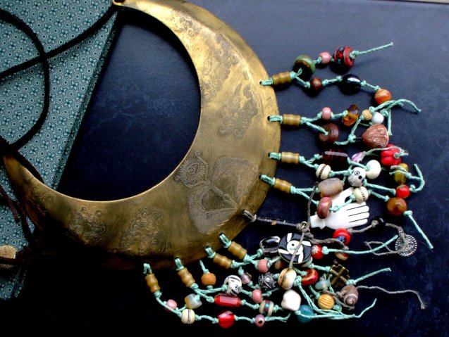 Cloud Goddess Tribal Bib Necklace by 13Alternatives