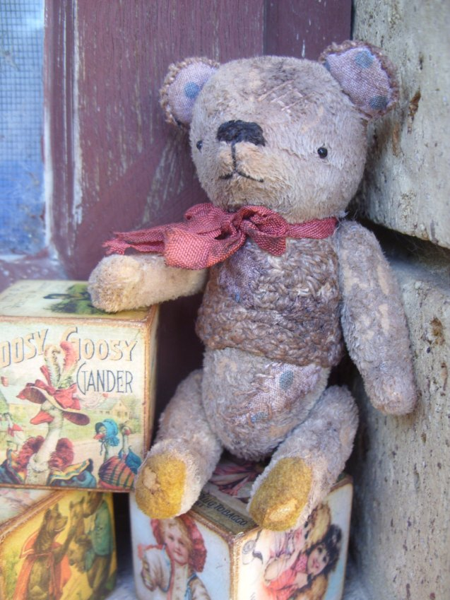 Miniature OOAK Handmade Primitive Vintage Teddy Bear by RaggyBears