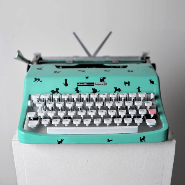 Mint Green Custom Painted Olivietti Typewriter by ClaireLaSecretaire