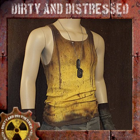 Men's One of a Kind Radioactive Yellow Dirty and Distressed Wasteland Tank Top by DirtyandDistressed