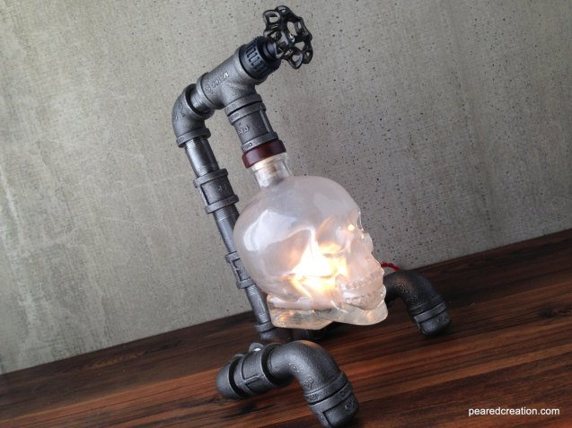 Crystal Head Vodka Lamp by newwineoldbottles